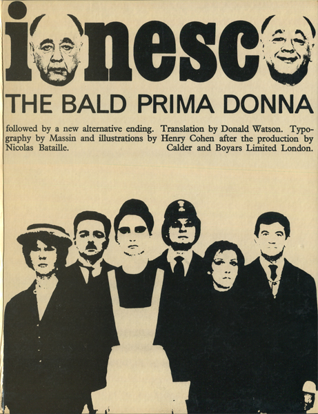 Eugene Ionesco: The Bald Prima Donna