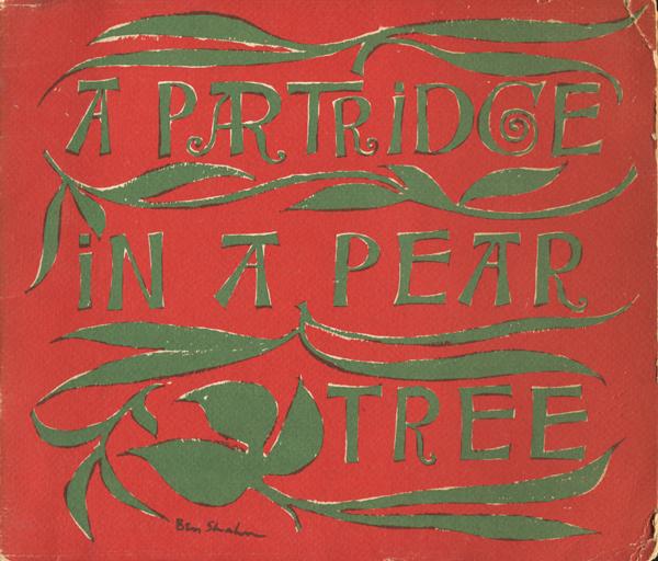 Ben Shahn: a partridge in a pear tree