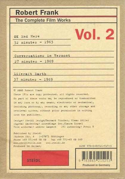Robert Frank: The Complete Film Works