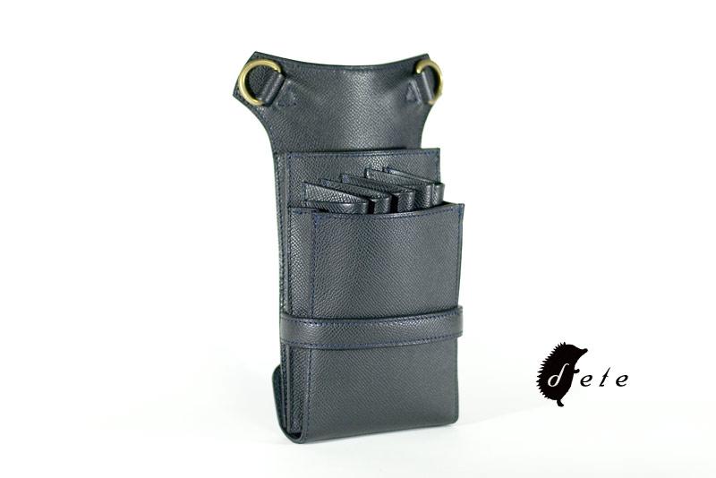 シザーケース5丁用 S10-5  体に沿うbox型 ワインハイム社製カーフ