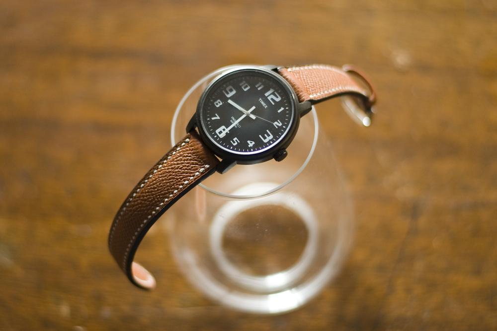 〔オーダーメイドギャラリー〕腕時計ベルト 手縫い オーダーメイド for TIMEX