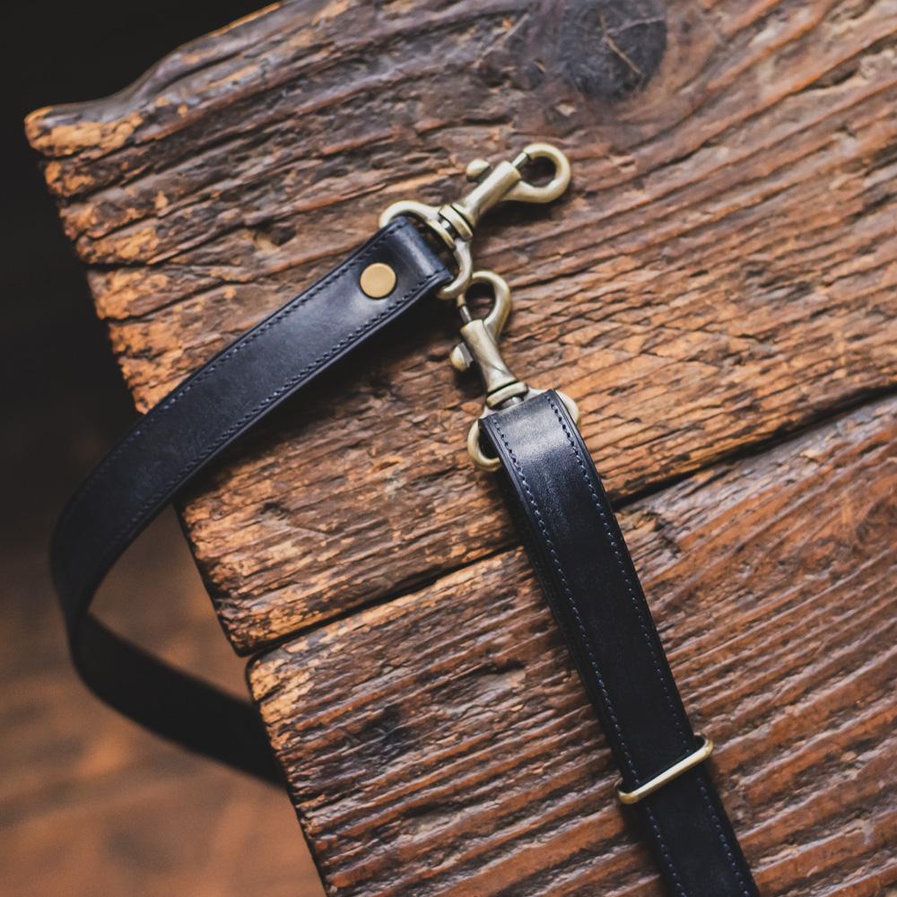 20mm シザーケースベルト 革で補強した丈夫な腰下げ用ベルト イングリッシュブライドルレザー 受注生産