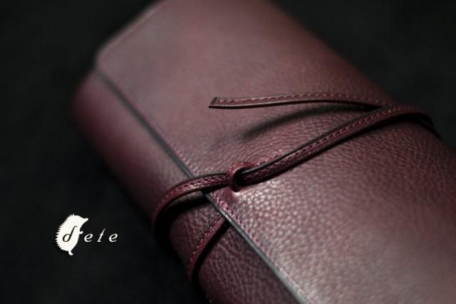 ロールシザーケース 9ポケット 6~7丁用 イタリア製牛革