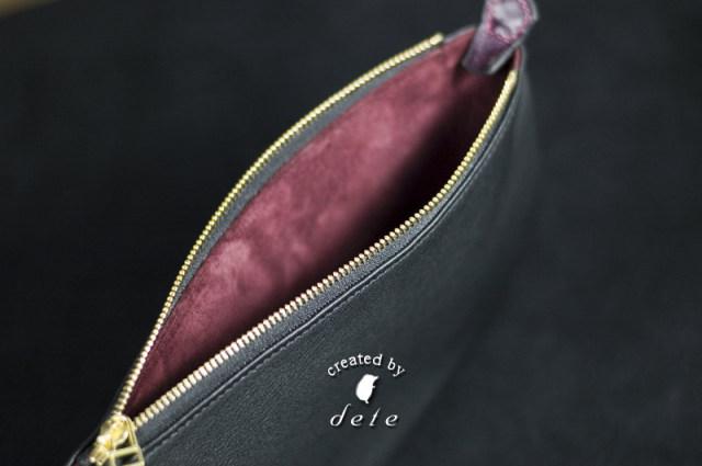 ファスナーポーチ コスメポーチ・タブレットケース・ゆったりサイズのペンケースなどにおすすめなバッグインバッグ