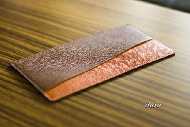 〔オーダーメイドギャラリー〕慶事金封ふくさ男性用(スーツ内ポケット収納) グレインカーフ手縫い