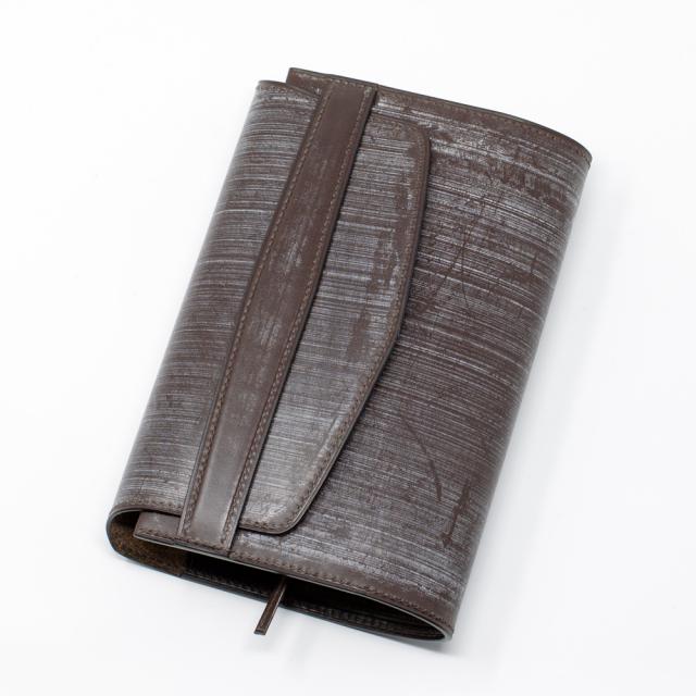 〔オーダーメイドギャラリー〕ハヤカワ文庫トールサイズ用ブックカバー フラップタイプ手縫いブライドルレザー