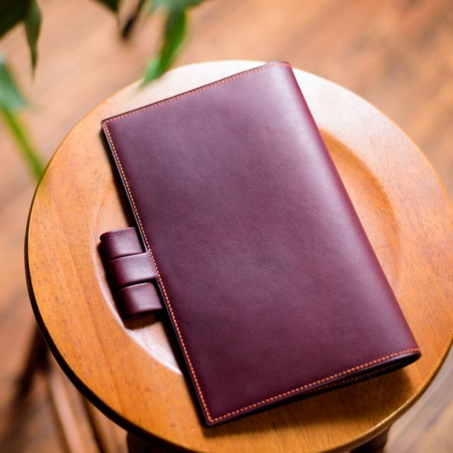手帳カバー『classy』 ジブン手帳/ブラウニー手帳用 [手縫い受注生産]