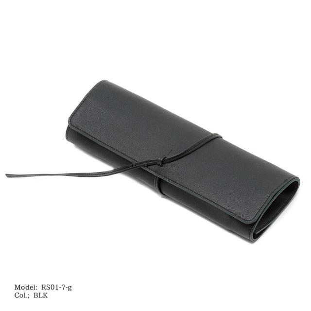 ソフトロールシザーケース7ポケット 【RS01-7-g】4~5丁用 イタリアンレザーソフトゴート