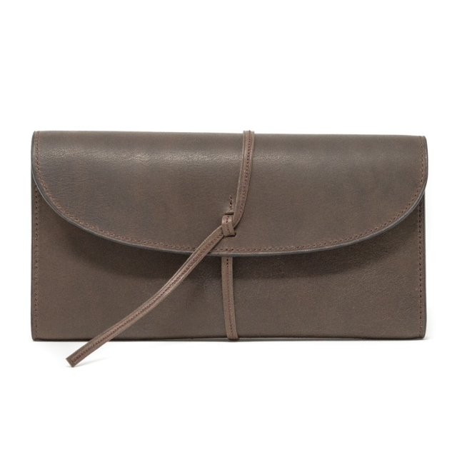 革ひも長財布 イタリアンレザー 手縫いミシン縫い併用(受注生産)
