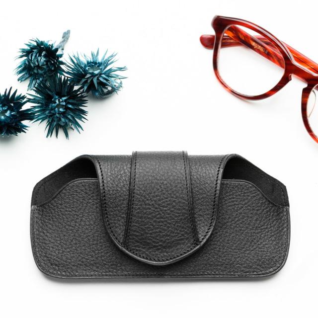 上質を知る紳士の為のメガネケース ベルトループ付き サングラス老眼鏡に ハズキルーペ ラージ対応