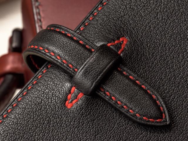 〔オーダーメイドギャラリー〕バイブルサイズシステム手帳 手縫い アルランゴート(山羊革)