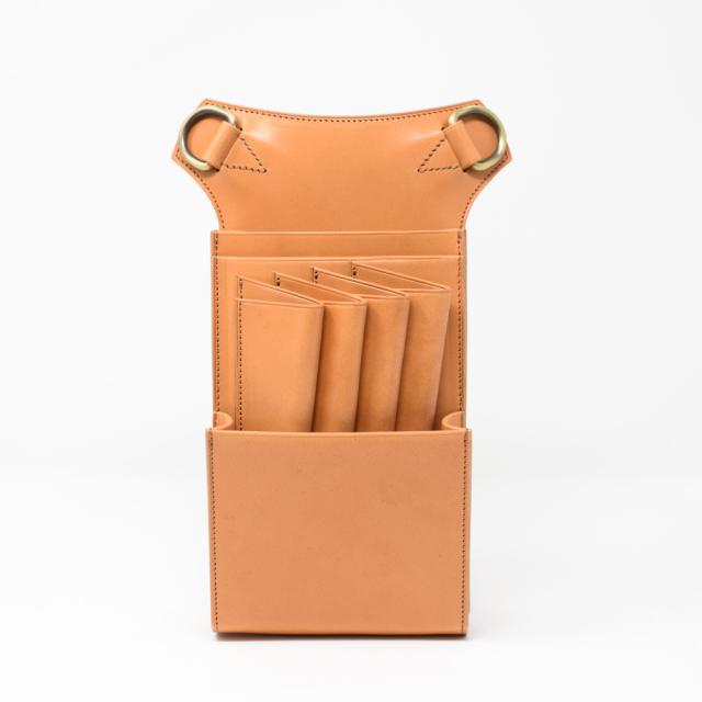 シザーケース4丁用 s10b-4SP  体に沿うbox型コームポケット付き (受注生産)