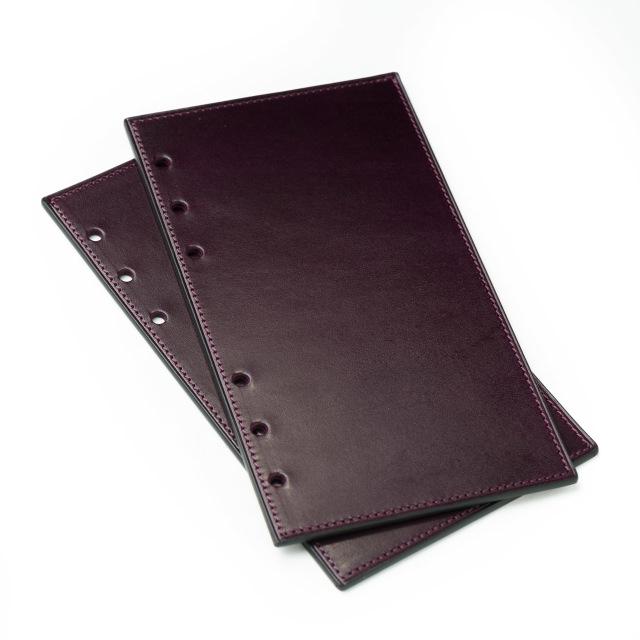 カーフのバイブルサイズシステム手帳リフター パープル