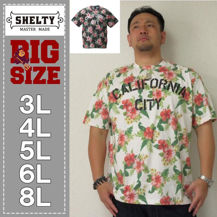 (本州四国九州送料無料)SHELTY-ボタニカル総柄プリント半袖Tシャツ(メーカー取寄)