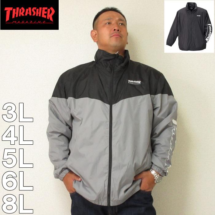 (本州四国九州送料無料)THRASHER-スタンドフルジップジャケット(メーカー取寄)スラッシャー 3L 4L 5L 6L 8L ナイロン