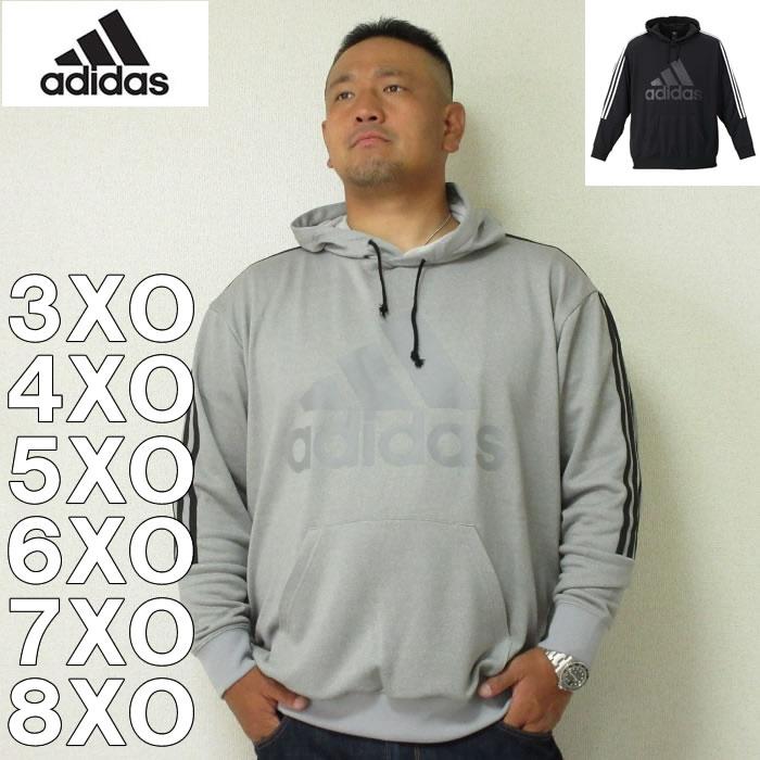 (本州四国九州送料無料)adidas-スウェットプルパーカー(メーカー取寄)3XO 4XO 5XO 6XO 7XO 8XO アディダス