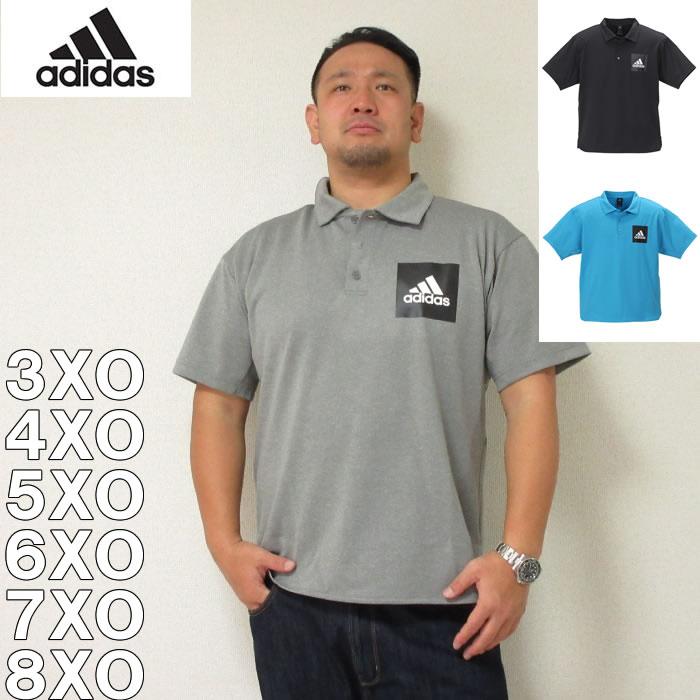 (5/31まで特別送料)adidas-3ストライプ半袖ポロシャツ(メーカー取寄)アディダス 半袖 ポロシャツ 3XO 4XO 5XO 6XO 7XO スポーツ ドライ