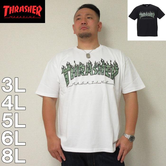 (7/31まで特別送料)THRASHER-半袖Tシャツ(メーカー取寄)3L 4L 5L 6L 8L スラッシャー 流行り 流行 雑誌掲載
