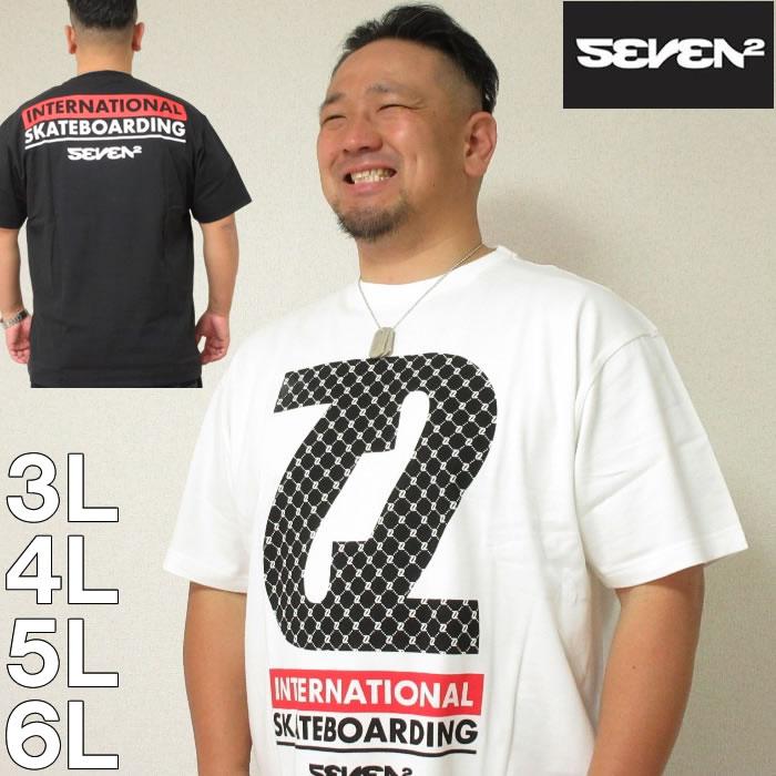 大きいサイズ メンズ SEVEN2- 半袖 Tシャツ(メーカー取寄)(セブンツー) 3L/4L/5L/6L サーフ