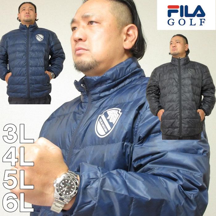 大きいサイズ メンズ FILA GOLF-ライトダウンジャケット(メーカー取寄) ゴルフウェア フィラゴルフ 3L 4L 5L 6L