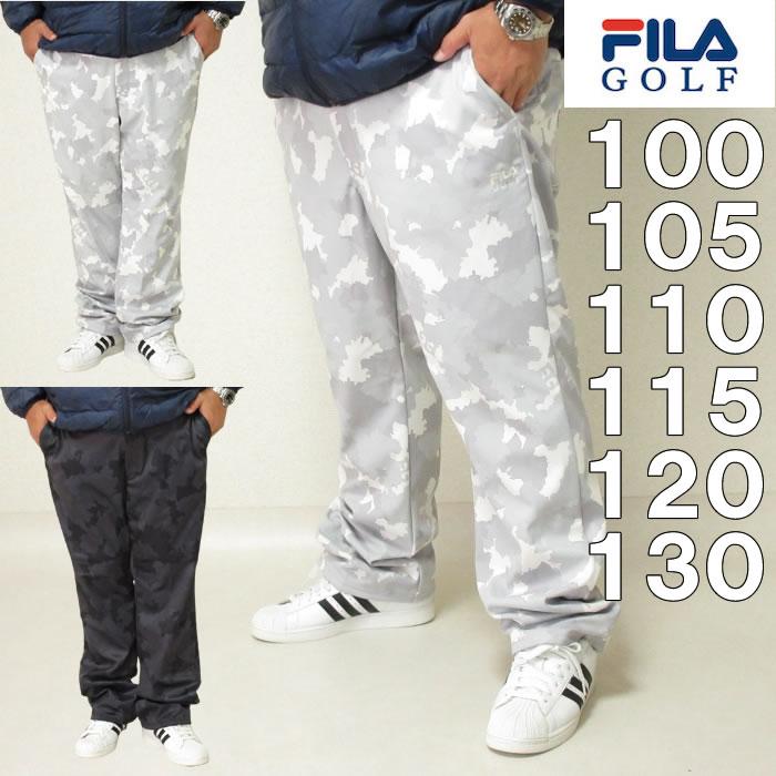 大きいサイズ メンズ FILA GOLF-ボンディングパンツ(メーカー取寄) ゴルフウェア フィラゴルフ 100 105 110 115 120 130
