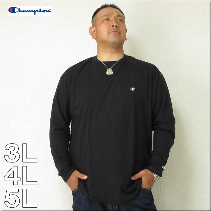 Champion(チャンピオン)長袖 Tシャツ ワンポイントCマーク 3L 4L 5L ロンTEE