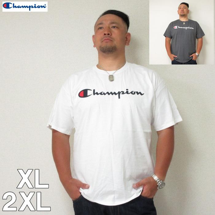 (8/31まで特別送料)Champion (チャンピオン) スクリプト半袖Tシャツ XL 2XL