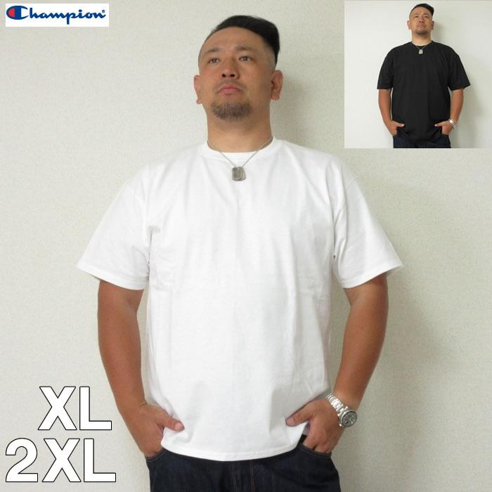 (10/31まで特別送料)Champion (チャンピオン) 無地 半袖 Tシャツ XL 2XL