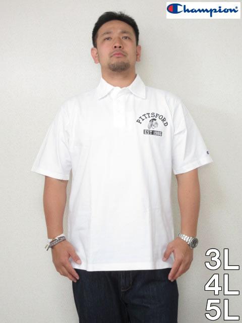 (大きいサイズ メンズ 通販 デビルーズ)Champion(チャンピオン)「PRINT」半袖ポロシャツ