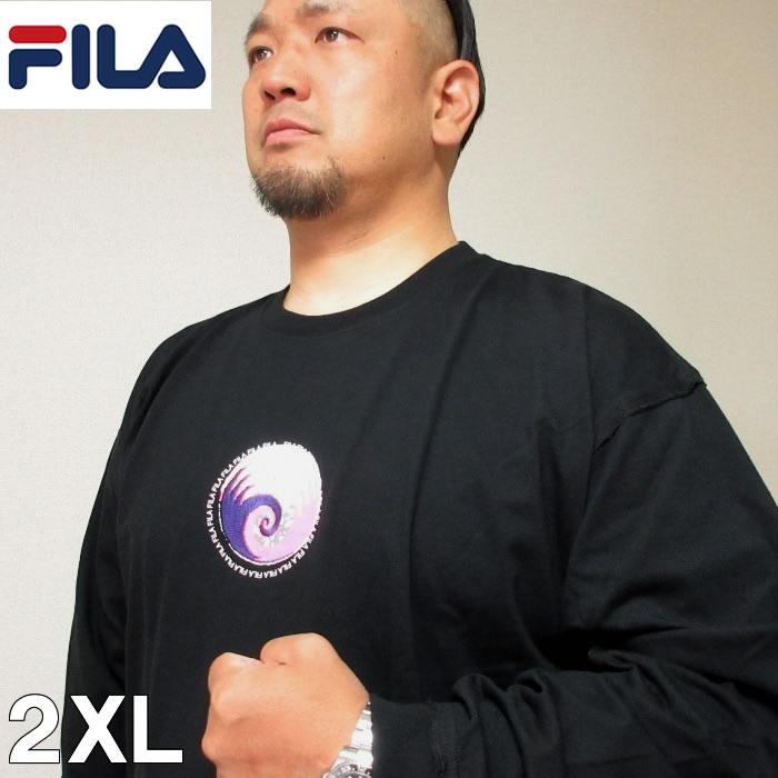 (本州四国九州送料無料)大きいサイズ メンズ FILA(フィラ)長袖 アフリカンデザイン Tシャツ 2XL