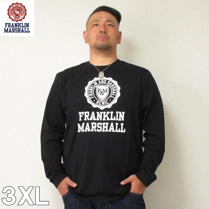 (6/30まで特別送料)FRANKLIN&MARSHALL (フランクリンアンドマーシャル) エンブレム 長袖  Tシャツ 3XL