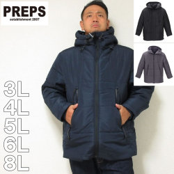 (本州四国九州送料無料)PREPS-ボリュームフード中綿ジャケット(メーカー取寄)