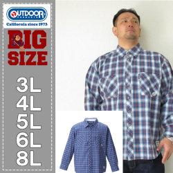 OUTDOOR PRODUCTS-ロールアップ長袖チェックシャツ(メーカー取寄)