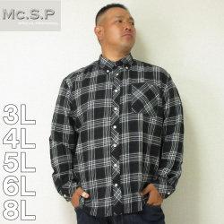 (3/2まで特別送料)Mc.S.P-チェック長袖B.Dネルシャツ(メーカー取寄)3L 4L 5L 6L 8L シャツ
