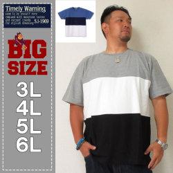Timely Warning-梨地3段切替半袖Tシャツ(メーカー取寄)