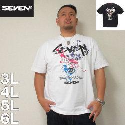 (7/31まで特別送料)SEVEN2-半袖Tシャツ(メーカー取寄)3L 4L 5L 6L 半袖 Tシャツ アメリカ ストリート 流行り 流行 雑誌掲載 セブンツー