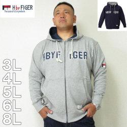 H by FIGER-フルジップ パーカー(メーカー取寄)3L 4L 5L 6L 8L HOOD フード