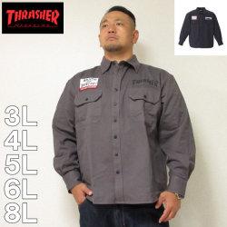 THRASHER-長袖ワークシャツ(メーカー取寄)