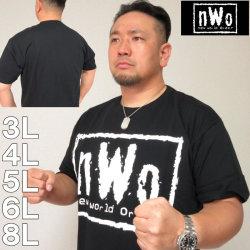 (本州送料無料)大きいサイズ メンズ W.W.E-nWoロゴ半袖Tシャツ(メーカー取寄)NWO 3L 4L 5L 6L 8L 闘魂三銃士 蝶野正洋 武藤敬司 新日本プロレス