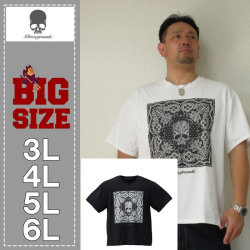 Roen grande-バンダナ柄ドクロ半袖Tシャツ(メーカー取寄)