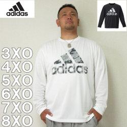 (本州四国九州送料無料)adidas-長袖Tシャツ(メーカー取寄)3XO 4XO 5XO 6XO 7XO 8XO アディダス 長袖 Tシャツ