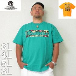 (8/31まで特別送料)RealBvoice-ボックスボタニカルロゴ半袖Tシャツ(メーカー取寄)3L 4L 5L 6L リアルビーボイス Tシャツ