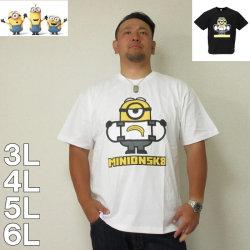 (本州四国九州送料無料)MINIONS-半袖Tシャツ(メーカー取寄)3L 4L 5L 6L ミニオンズ