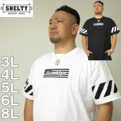 大きいサイズ メンズ SHELTY-BOX 刺しゅう 半袖Tシャツ(メーカー取寄)(シェルティ) 3L/4L/5L/6L/8L