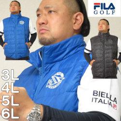 大きいサイズ メンズ FILA GOLF-ライトダウンベスト(メーカー取寄) ゴルフウェア フィラゴルフ 3L 4L 5L 6L