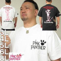 (本州四国九州送料無料)大きいサイズ メンズ PINK PANTHER×FLAGSTAFF-半袖Tシャツ(メーカー取寄)ピンクパンサー/3L/4L/5L/6L/8L