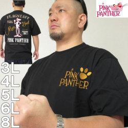 大きいサイズ メンズ PINK PANTHER×FLAGSTAFF-ピンクパンサー半袖Tシャツ(メーカー取寄)3L 4L 5L 6L 8L