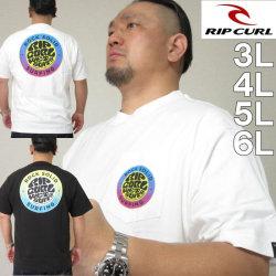 大きいサイズ メンズ RIP CURL-ROCK SOLID半袖Tシャツ(メーカー取寄)リップカール 3L 4L 5L 6L
