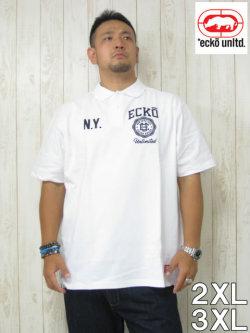 (大きいサイズ メンズ 通販 デビルーズ)ECKO UNLTD(エコーアンリミテッド)「CREST」半袖ポロシャツ