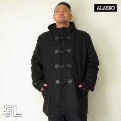 ALASKO(アラスコ)メルトンウール ダッフルコート(ブラック)